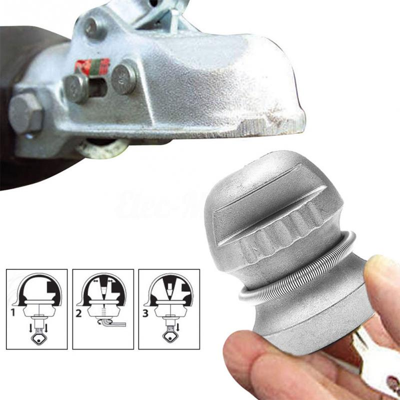 1pcs Trailer Parts Hitch Lock Ball Lock Universal Coupling Tow Caravan Zinc Alloy 50*65.5mm