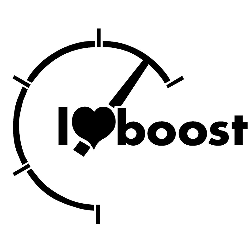 15 12 5cm I Heart Boost Decal JDM Import Turbo Truck Sticker Fashion Personality Creative Vinyl Decor Decals in Car Stickers from Automobiles Motorcycles