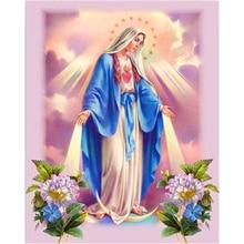 2a048ebe648 La plaza 5D DIY diamante pintura saint religiosa monja Cruz puntada bordado  de diamantes de cristal foto de Decoración de casa