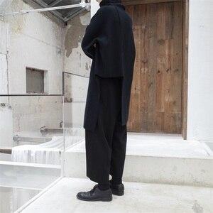 Image 4 - EAM pull tricoté pour femmes, nouveau pull à col haut à manches longues noir, avec couture irrégulière, grande taille, à la mode, JL734, printemps automne 2020