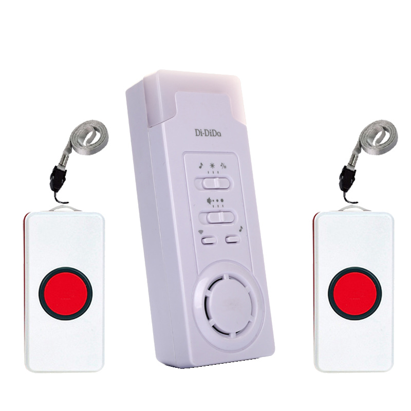 Didida House Wireless Mobile Alarm Emergency Button P(2 Transmitter 1 Receiver)