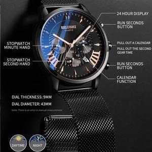 Image 3 - Mens שעונים למעלה מותג יוקרה Belushi צבאי שעונים Mens ספורט קוורץ שעון יד עמיד למים עור זכר שעון Reloj Hombre