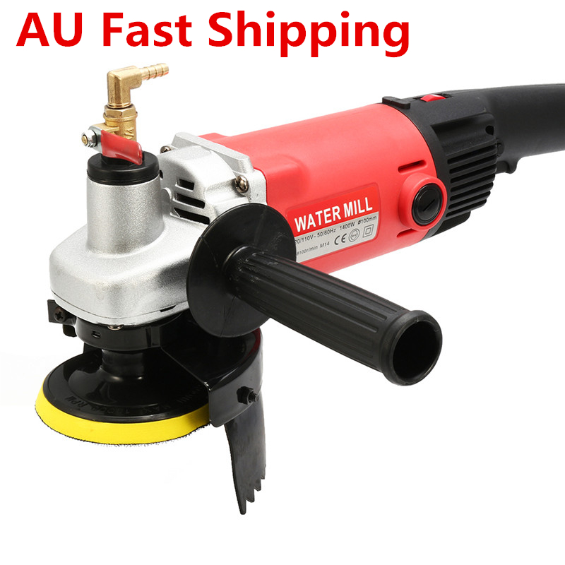 1400W 220V Variable Speed Water Mill Water Filled Grinding Machine Electric Concrete Marble Diamond Stone Polisher Wet Grinder