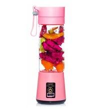 NEW-380ml USB Rechargeable Juicer Bottle Cup Juice Citrus Blender Lemon Vegetables Fruit Milkshake Smoothie Squeezers Reamers цена в Москве и Питере