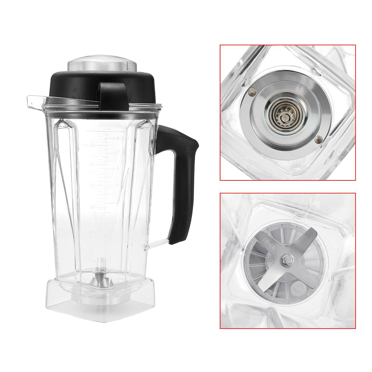 2L Container Jar Jug Pitcher Cup Commercial Blender/ Spare Parts for Vitamix 60oz Home Kitchen Appliance Food Mixer Part Durable home appliance