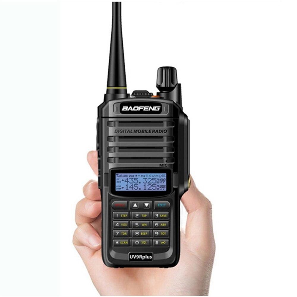 Baofeng UV-9R Plus Portable 10 W IP68 Mise À Niveau Imperméable Version Deux Façon 65 MHz-108 MHz Radio VHF UHF mini Talkie Walkie Téléphone