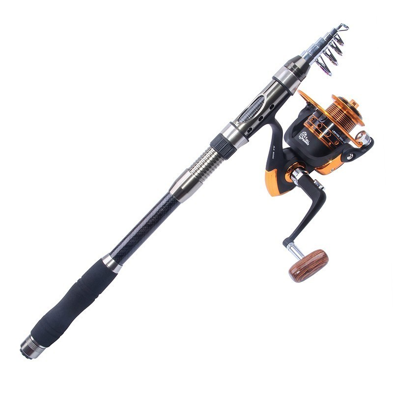 Hyaena 2.1/2.4/2.7/3.0/3.6m Telescopic Fishing Rod Combo Full Kit Spinning Fishing Reel Carbon Rod Fishing Reel Gear Pole Set-in Fishing Rods from Sports & Entertainment    3