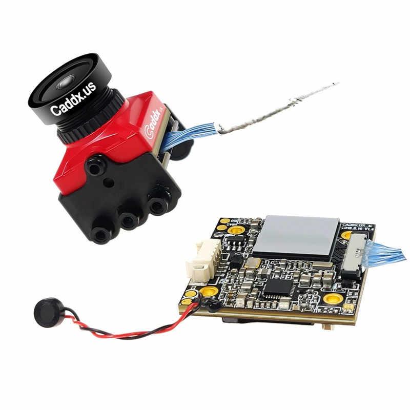 Caddx Turtle V2 800TVL 1.8Mm 1080P 60fps NTSC/PAL Switchable HD W/DVR Merah Hitam Mini FPV Camera untuk FPV RC Drone Bagian Aksesoris