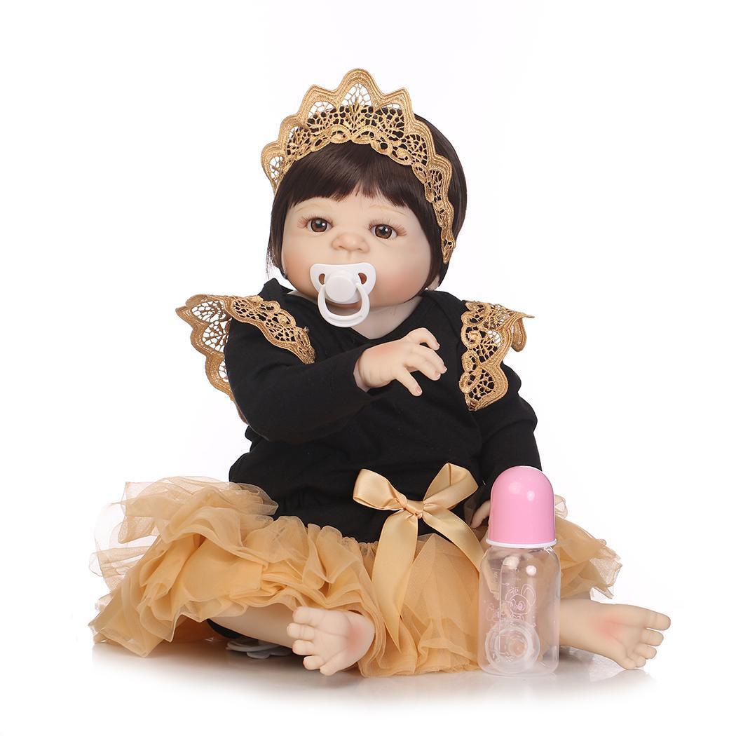 NPK 55 CM réel corps complet Silicone fille Reborn bébé poupée jouet bébés princesse poupées Bebe Reborn Bonecas Brinquedos