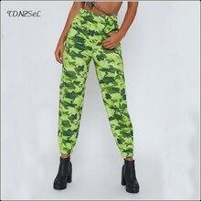 купить!  Женские повседневные спортивные штаны с камуфляжным принтом и средней талией Спортивные брюки с кам