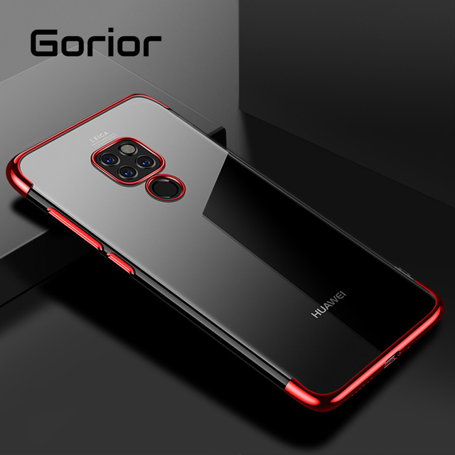 Gorior Slim Transparent Case For Huawei P30 20 Mate 20X Pro Lite Honor V20 V10 Soft TPU Back Cover For Huawei Mobile Phone Cases