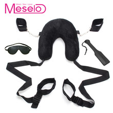 Meselo Bdsm Bondage Sex Furniture Whip Paddle Pillow Ankle Hand Bondage Slave Game Erotic Flogger Sex Toys For Couples Sets New(China)