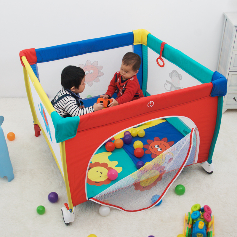 Pliable Portable Amovible Bébé Jeu Lit de Bande Dessinée Bébé Parc Lit Enfant Jeux Bébé Jouer Cour Enfants Activité Piscine pour Bébé