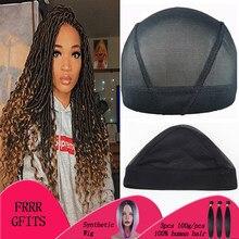 8cdfb346478 Stretchable Black Weaving Cap Elastic Band Nylon Mesh Net Dome Style Mesh  Wig Cap For Making Wigs Sew In Hair 5pcs-10pcs Fashion