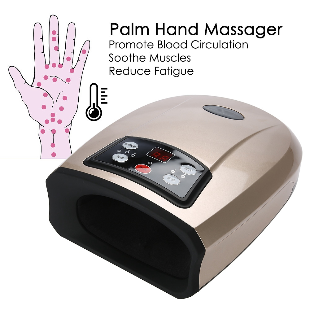 Electric Acupressure Palm Hand Massager Protector Beauty Hand Care Tools Numbness Pain Relief Massage Relaxation Hand