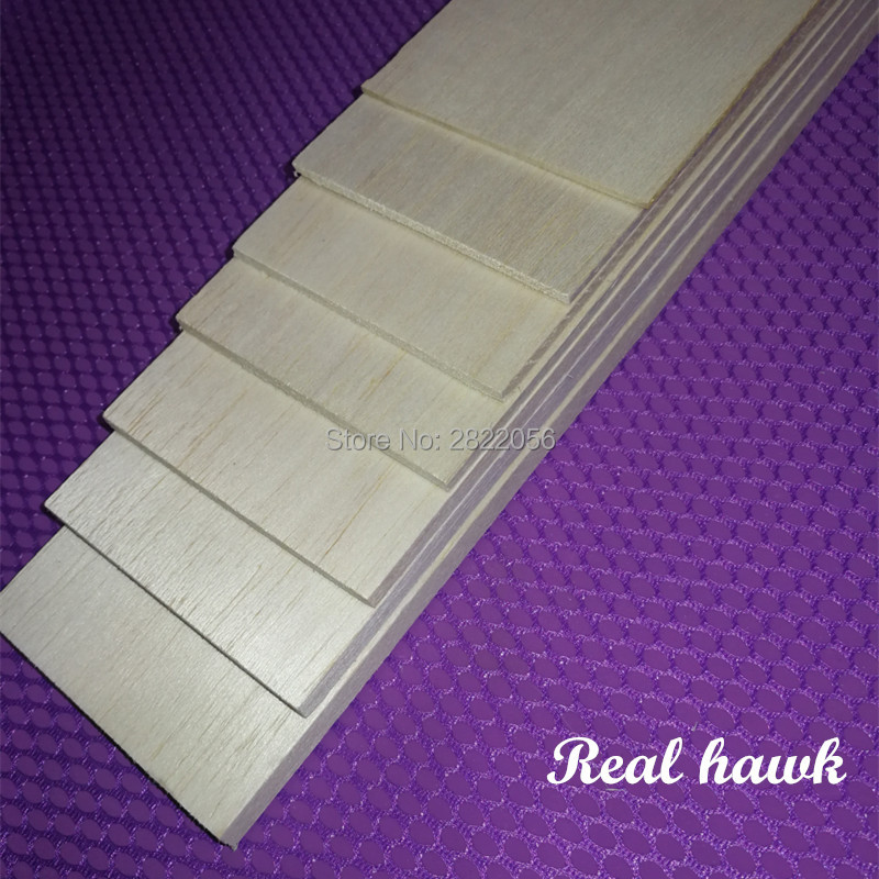500x80x0.75/1/1.5/2/2.5/3/4/5mm AAA+ Model Balsa Wood Sheets For DIY RC Model Wooden Plane Boat Material