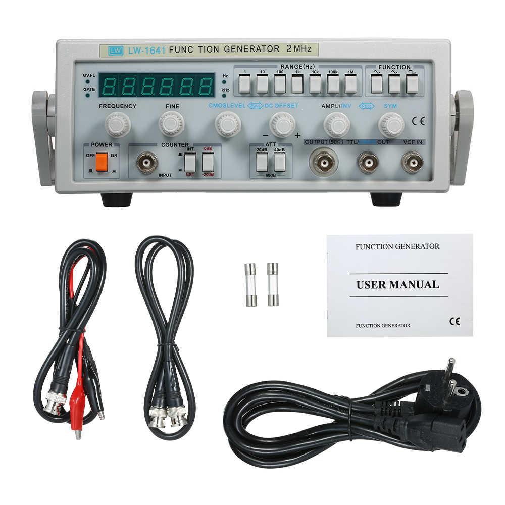 Wave Digitale Functie Signaal Generator Golfvorm Generator 0.1Hz-2 MHz Frequentie Meter AC 220 V