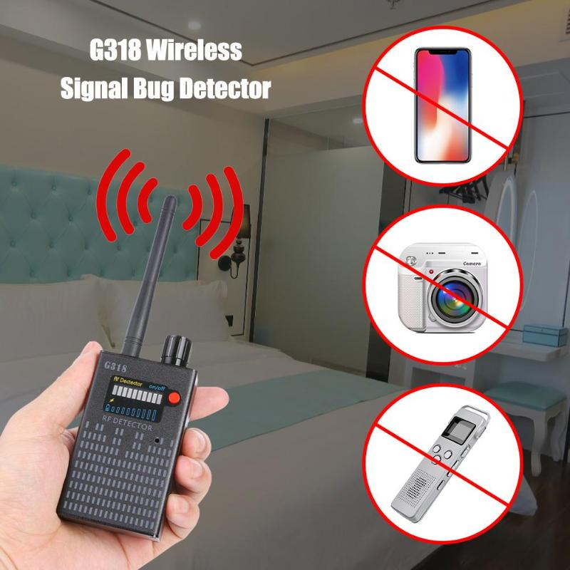 G318 Wireless Signal Bug Detector Anti-Spy Bug Detector GPS Location Finder Tracker Frequency Scanner Sweep Protect Security US