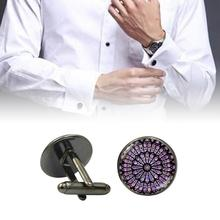 все цены на Cufflinks European Style Fashion French Men Buttons Unique Cufflinks Alloy Glass Piece Suitable For Any Shirt Cuffs Home Product онлайн
