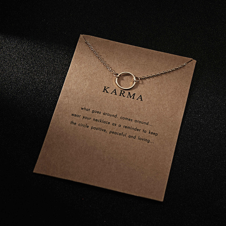 a3ea5e800e7539 ... Fashion Circle Necklace For Women Minimalist Pendant Gold Color Chain  Choker Necklaces KARMA Gift Card mothers ...