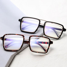 Brand Designer Oversized Square Sunglasses Men Women Vintage Fashion Sun glasses Flat Top Metal Frame Mirror Glasses