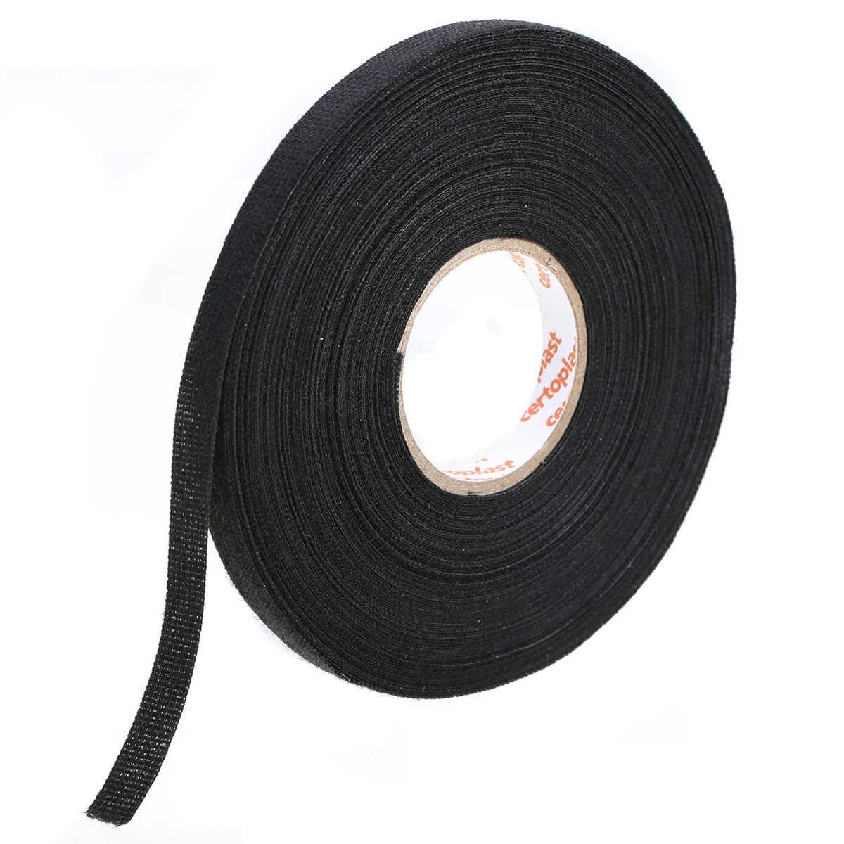 1pc black anti wear adhesive cloth fabric tape looms wiring harness tape 25m x 9mm  [ 1200 x 1200 Pixel ]