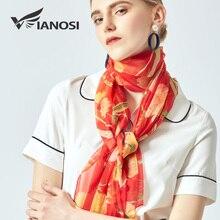 [VIANOSI] Women's Scarves fashion print silk scarf for ladies large size beach stoles luxury hijabs brand shawl