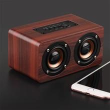 цены Retro Wooden Wireless Bluetooth 4.2 Speaker HIFI Wireless Dual Loudspeakers 3D Surround Speaker Subwoofer Home Use Music Player