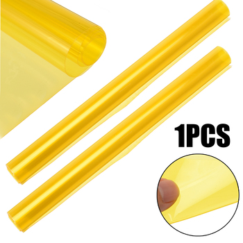60x30CM Yellow Auto Car Light Headlight Taillight Tint Vinyl Film Sticker Easy Stick Motorcycle Whole Car Decoration image