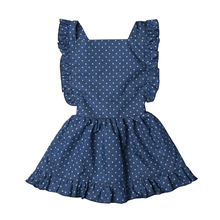 Girls Dress Summer Cotton Clothes Dot Print Sleeveless Mini Dress Kids Party Dresses For Girls Sundress Backless Ruffle Dresses ruffle detail dot textured embroidery dress