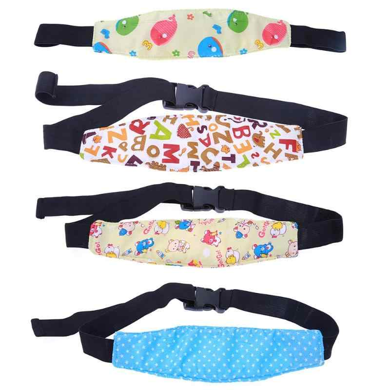 Safety Baby Kid Car Seat Sleep Nap Aid Head Band Cotton&Elastic Band Adjustable Buckle Support Holder Belt EASE Convenient