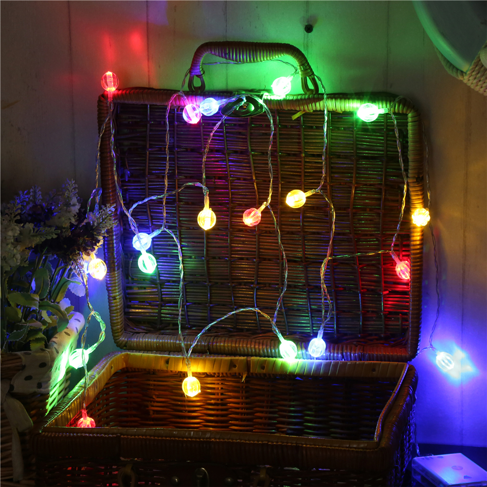 Fairy Lightsfairy LightsWatermelon Ball String Light 1.5M-10M10L/20L/40L/96L,3AA/31V US/EU Room Weding Party Wall Window Home Decoration  Night Lamp