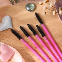 25/50PCS Eyelash brushes Makeup brushes Disposable Mascara Wands Applicator Spoolers Eye Lashes Cosmetic Brush Makeup Tools