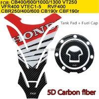 For HONDA CBR1000 600RR CB400 CB750 CB1300 CBR250 VTR1000 VFR1200 650TR ST1300 Real Carbon fiber tank pad Protector Sticker