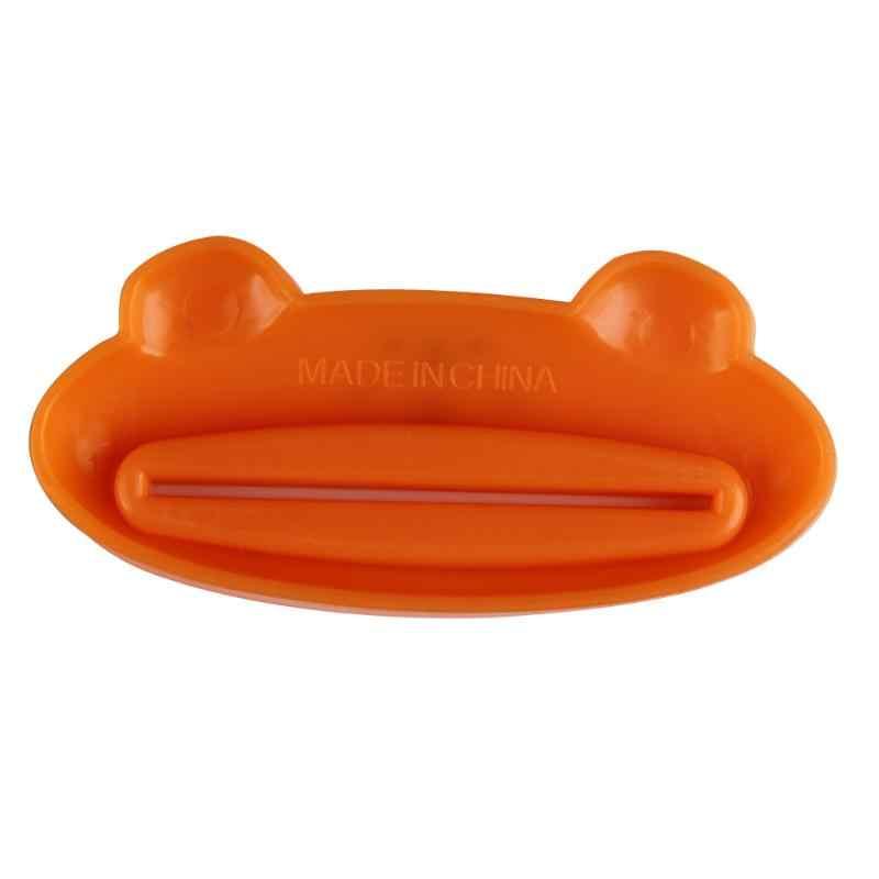 Di trasporto Del nuovo Fumetto Tubetto di Dentifricio Dispenser Animale Facile Squeezer Bagno di Casa Tubo Titolare di Rolling Squeezer Dentifricio Clip di trasporto Casuale