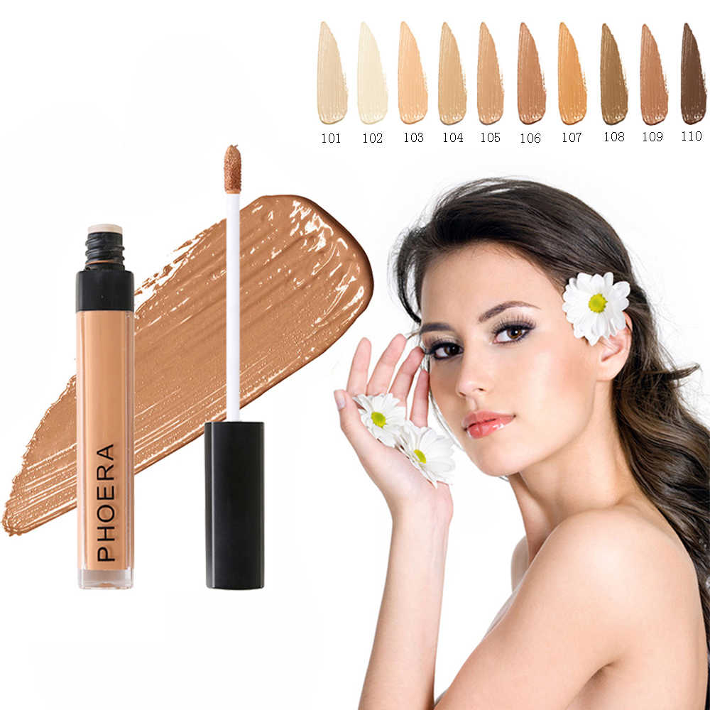 PHOERA Make Up Concealer Long Lasting Moisturizing Pore Acne Cover Face Contour Makeup Cosmetic maquiagem profissional TSLM2