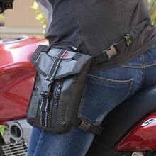 c72f864eafee Adeeing waterproof Oxford Thigh Drop сумка на бедро Мужская мотоциклетная  поясная сумка-черная водостойкая сумка