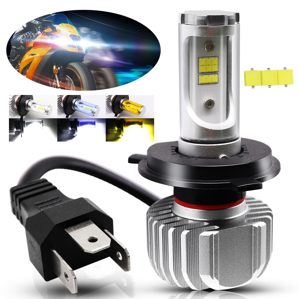 1X Motorcycle Headlight H4 LED Bulb 25W CSP Y19 LED Accessories For Motorcycle Light Front Headlamp Driving Light Universal Lamp