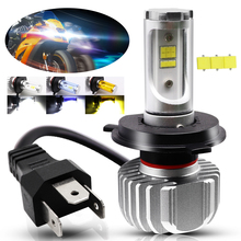 1X Motorcycle Headlight H4 LED Bulb 25W CSP Y19 Accessories for Light Front Headlamp Driving Universal Lamp
