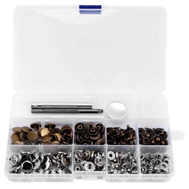 50 комплектов нажмите шпильки кнопка Поппер крепеж w/установка инструмента для кожаной одежды 633 #12 мм