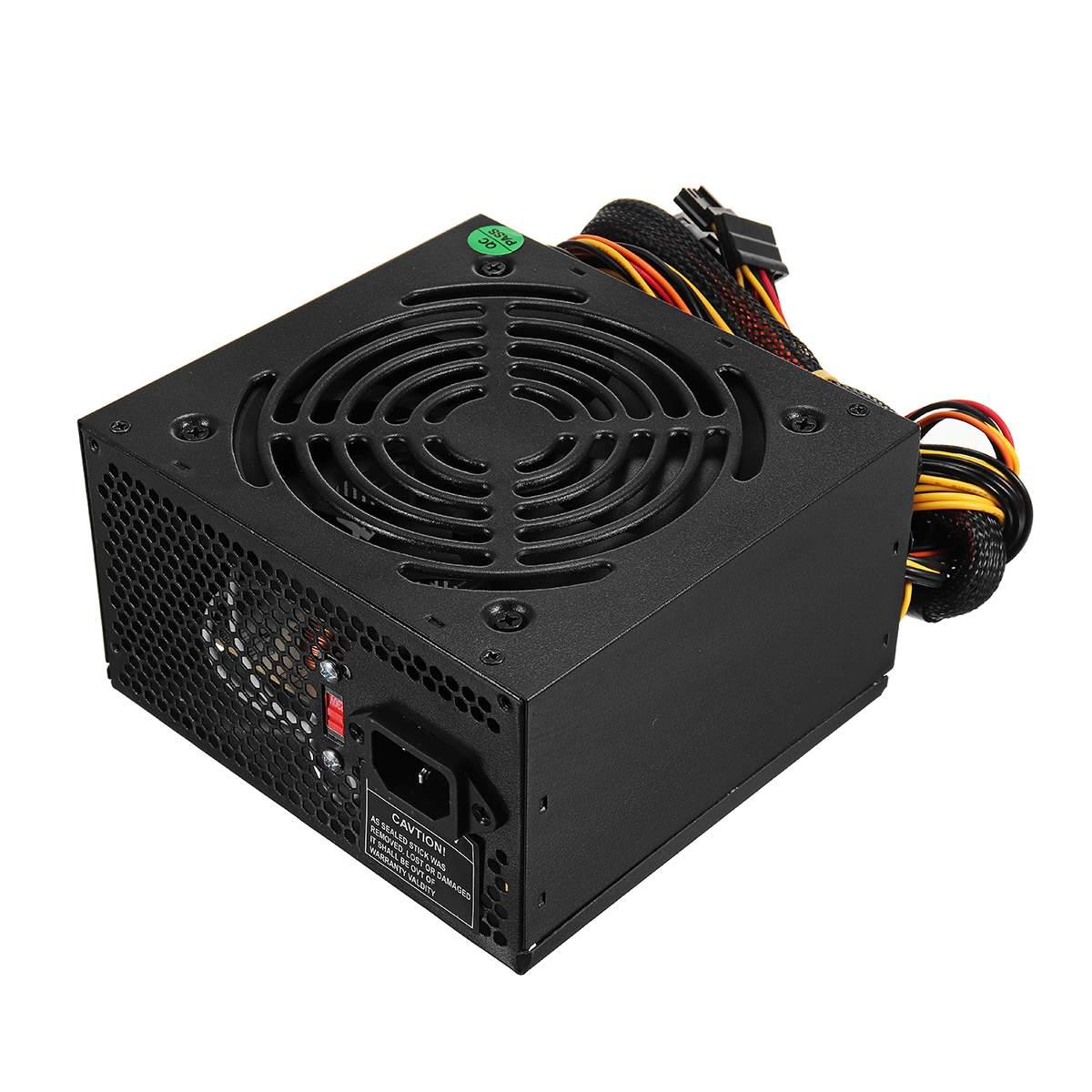Max 1000 W alimentation PSU PFC ventilateur silencieux ATX 24pin 12 V PC ordinateur SATA Gaming PC alimentation pour Intel AMD ordinateur noir - 2