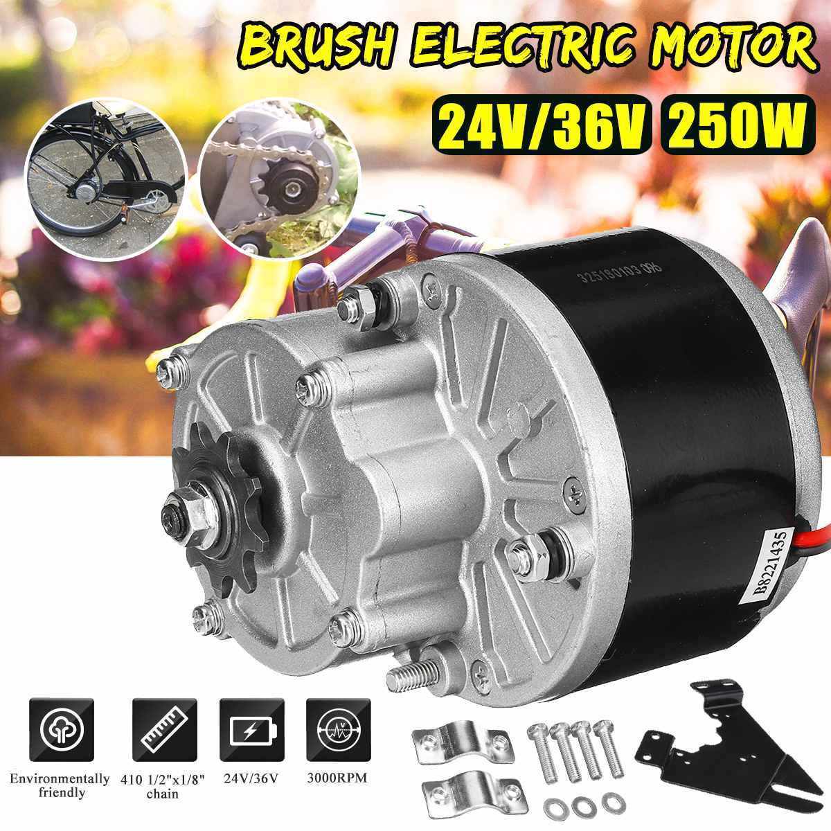 250W 24V/36V Electric Bicycle Motor For 410 1/2x1/8 Chain Electric Bicycle/Bike E bike Scooter Conversion Kit Set Accessories250W 24V/36V Electric Bicycle Motor For 410 1/2x1/8 Chain Electric Bicycle/Bike E bike Scooter Conversion Kit Set Accessories
