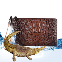 Mens Genuine Real Leather Wallet Male Leisure Business Handy Bag Crocodile Clutch Money Bag Card Coin Iphone Purse