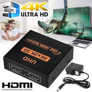 Image 2 - NEUE 1x2 HDMI Splitter v1.4b Ansicht 4K 3D 1080p Ein Eingang zu Zwei Ausgang Top UNS stecker
