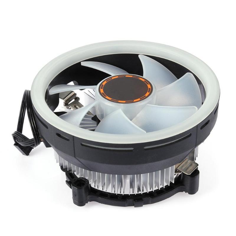 DC12V 12 cm PC silencieux refroidisseur LED ouverture CPU ventilateur de refroidissement palier hydraulique radiateur pour i3/i5/i7/AMD/775/1150/1151/115/