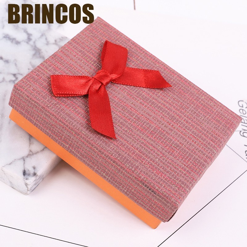 Jewlery Box Necklace Earrings Ring Packaging Hot Sell Paper Gift Organizer Sponge Boxes Bangles Bow  Accessories Trinket Display