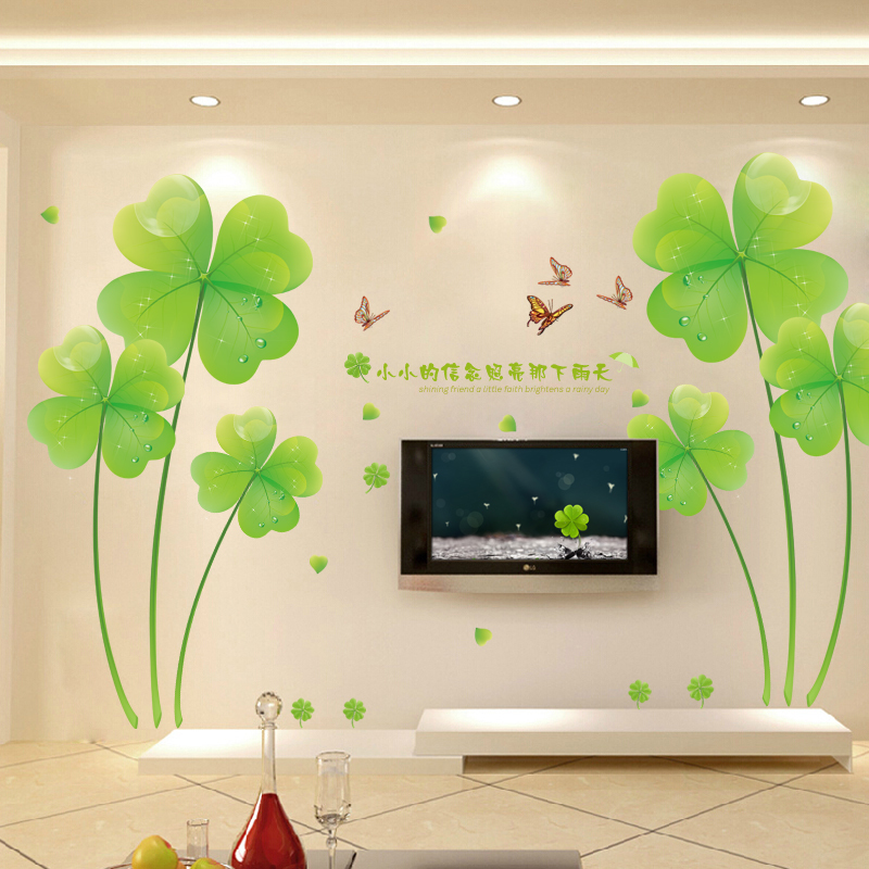 TV poster, living room TV background sticker pictures bedroom bedside decoration romantic sticker wallpaper self adhesive