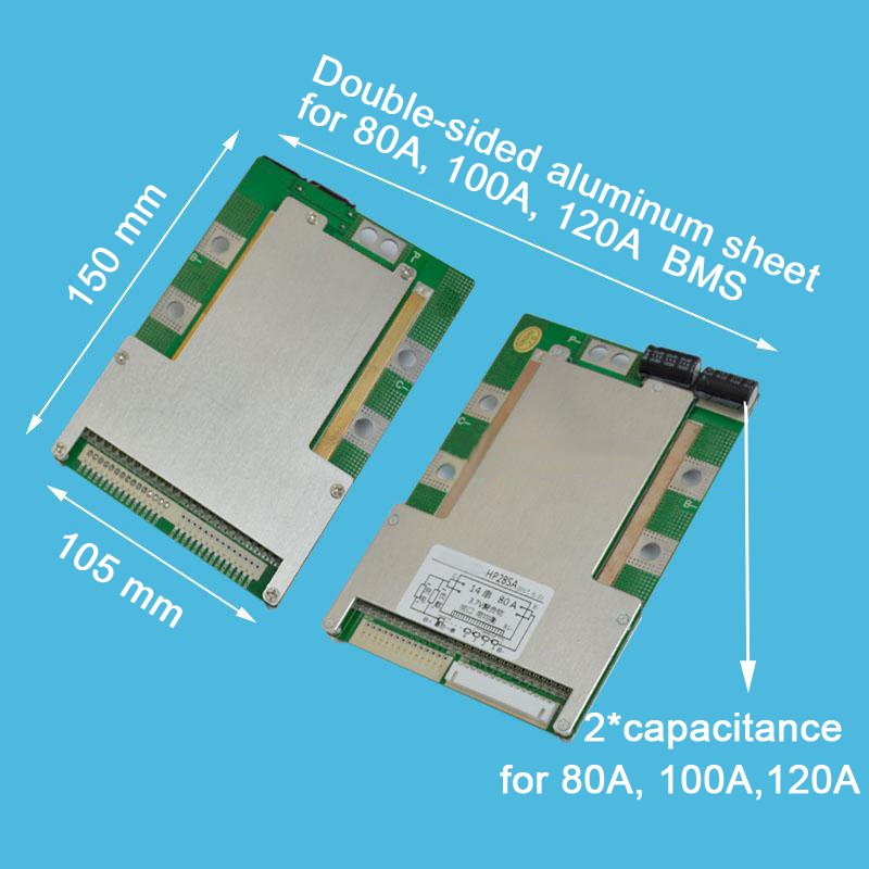 Battery Management System 10S 36V 100A 120A Lithium Or Li ion Battery Protection Board