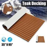 Selbst-Adhesive 2400x900x5,5mm Marine Boot Synthetische Bodenbelag EVA Schaum Yacht Teak Decking Blatt Boot zubehör Dunkelbraun