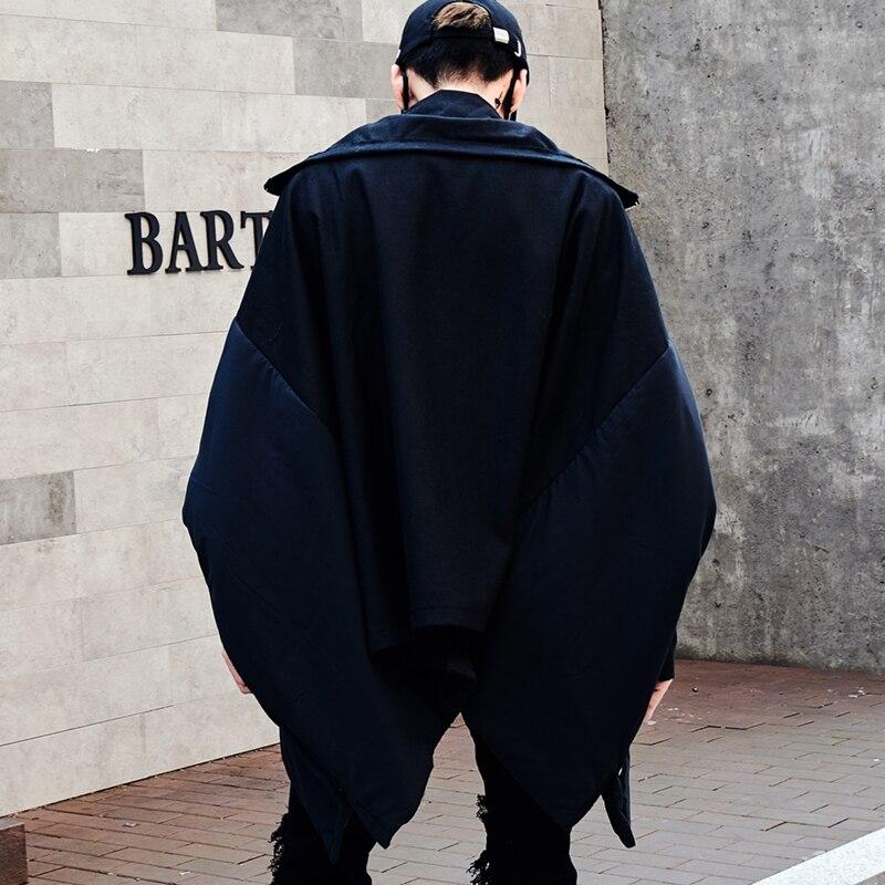 Winter Koreanische Version Des Neuen Männer Dark Wizard Haar Stylist Fledermaus ärmel Lose Jacke Männer Der Baumwolle Padded Mantel Große Größe SorgfäLtige Berechnung Und Strikte Budgetierung Schmuck & Zubehör